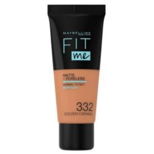 Fit Me® Matte + Poreless Foundation Mini – 332  Golden Caramel