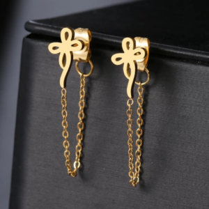 Flower With Chain Earrings