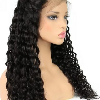Brazilian deep wave lace front glueless wig