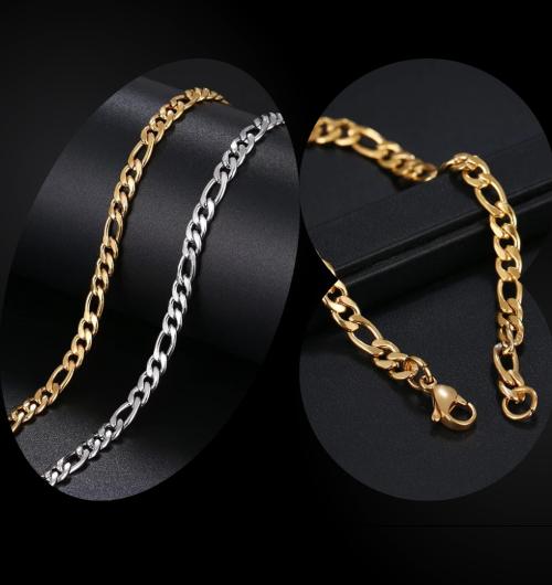 Men-Link-Necklace-Bracelet-Set